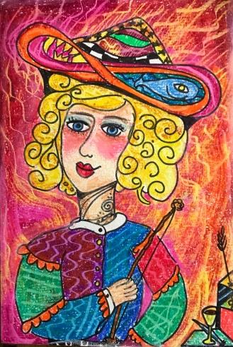 I. La Maga dibujo-Ancla para una sesión de Tarot by Anaska