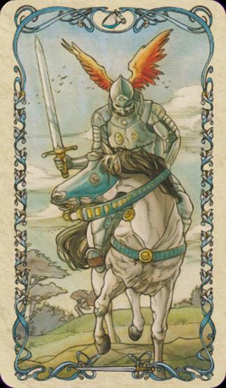 Caballo de Espadas - Tarot Mucha