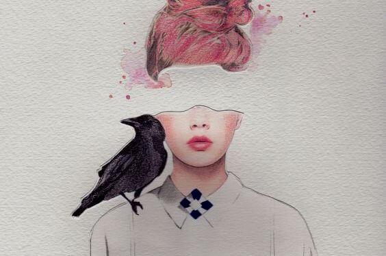 mujer-con-cuervo