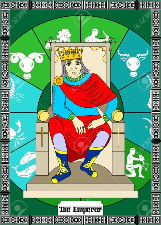 the illustration - card for tarot - the emperor.